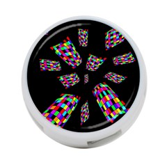 Colorful abstraction 4-Port USB Hub (One Side)