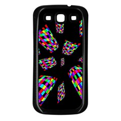 Colorful abstraction Samsung Galaxy S3 Back Case (Black)