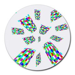 Colorful abstraction Round Mousepads