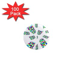 Colorful abstraction 1  Mini Magnets (100 pack)