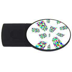 Colorful abstraction USB Flash Drive Oval (2 GB)