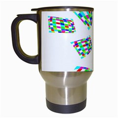 Colorful abstraction Travel Mugs (White)