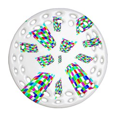 Colorful abstraction Ornament (Round Filigree)