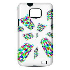 Colorful abstraction Samsung Galaxy S II i9100 Hardshell Case (PC+Silicone)
