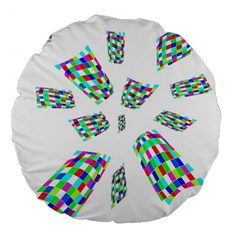Colorful abstraction Large 18  Premium Flano Round Cushions