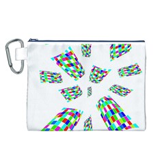 Colorful abstraction Canvas Cosmetic Bag (L)