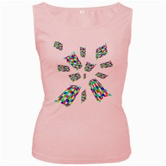 Colorful abstraction Women s Pink Tank Top