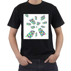 Colorful abstraction Men s T-Shirt (Black)