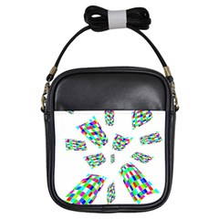 Colorful abstraction Girls Sling Bags