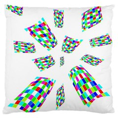 Colorful abstraction Large Cushion Case (One Side)