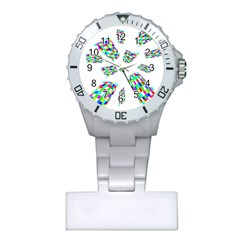Colorful abstraction Plastic Nurses Watch