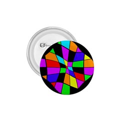 Abstract colorful flower 1.75  Buttons