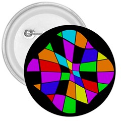 Abstract colorful flower 3  Buttons