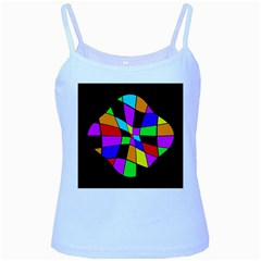 Abstract colorful flower Baby Blue Spaghetti Tank
