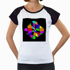 Abstract colorful flower Women s Cap Sleeve T