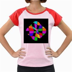 Abstract colorful flower Women s Cap Sleeve T-Shirt