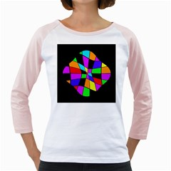 Abstract colorful flower Girly Raglans