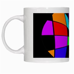 Abstract colorful flower White Mugs