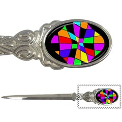 Abstract colorful flower Letter Openers