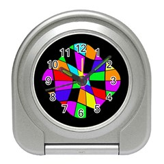 Abstract colorful flower Travel Alarm Clocks