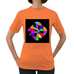 Abstract colorful flower Women s Dark T-Shirt