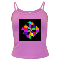 Abstract colorful flower Dark Spaghetti Tank