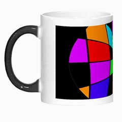 Abstract colorful flower Morph Mugs
