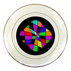 Abstract colorful flower Porcelain Plates