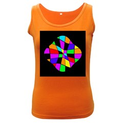 Abstract colorful flower Women s Dark Tank Top