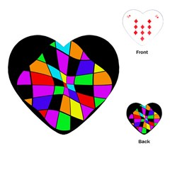 Abstract colorful flower Playing Cards (Heart)