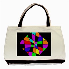 Abstract colorful flower Basic Tote Bag (Two Sides)