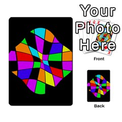 Abstract colorful flower Multi-purpose Cards (Rectangle)