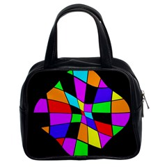 Abstract colorful flower Classic Handbags (2 Sides)