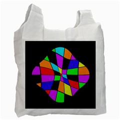 Abstract colorful flower Recycle Bag (Two Side)