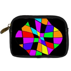 Abstract colorful flower Digital Camera Cases