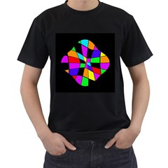 Abstract colorful flower Men s T-Shirt (Black)