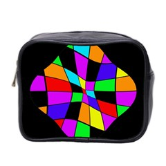 Abstract colorful flower Mini Toiletries Bag 2-Side