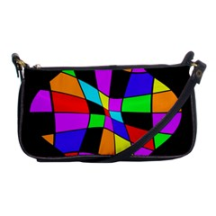 Abstract colorful flower Shoulder Clutch Bags