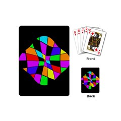 Abstract colorful flower Playing Cards (Mini)