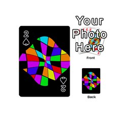 Abstract colorful flower Playing Cards 54 (Mini)