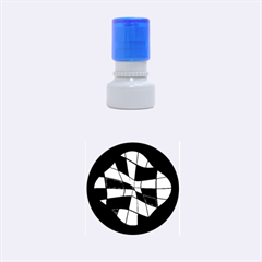 Abstract colorful flower Rubber Round Stamps (Small)