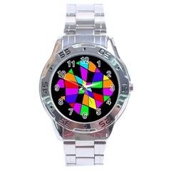 Abstract colorful flower Stainless Steel Analogue Watch
