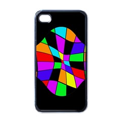 Abstract colorful flower Apple iPhone 4 Case (Black)