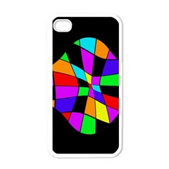 Abstract colorful flower Apple iPhone 4 Case (White)