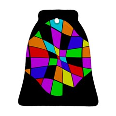 Abstract colorful flower Bell Ornament (2 Sides)