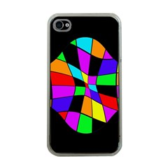 Abstract colorful flower Apple iPhone 4 Case (Clear)