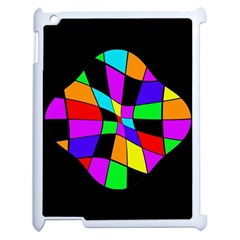 Abstract Colorful Flower Apple Ipad 2 Case (white)