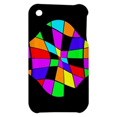 Abstract colorful flower Apple iPhone 3G/3GS Hardshell Case