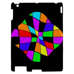 Abstract colorful flower Apple iPad 2 Hardshell Case