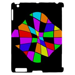 Abstract colorful flower Apple iPad 2 Hardshell Case (Compatible with Smart Cover)